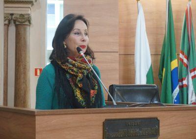Dr. Luci Pfeilffer, na Câmara Municipal de Curitiba.