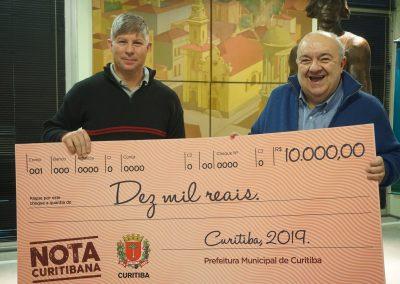 Ganhador do Nota Curitibana que indicou os Amigos do HC.