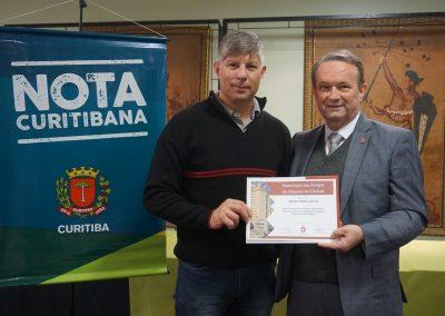 Agradecimento dos Amigos do HC ao ganhador do Nota Curitibana.