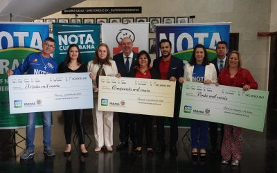 Amigos do HC comemoram seus 33 anos participando da premiação do Nota Paraná