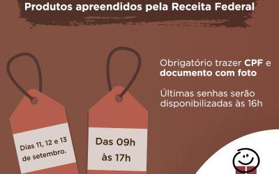 Bazar dos Amigos do HC terá 5 mil itens apreendidos pela Receita Federal